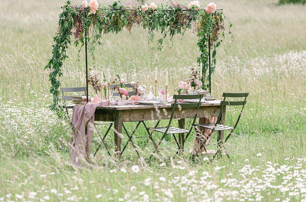 Décoration de mariage champêtre vintage